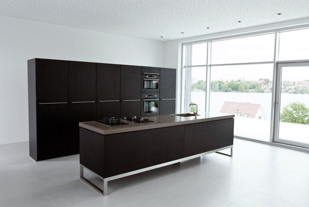 Design køkken i sort finer